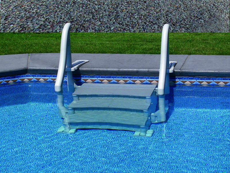 Confer Plastics | Confer Curve Inground Pool Entry Step | National Pool  Wholesalers